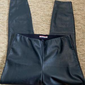 Tommy Hilfiger size 8 faux black leather legging